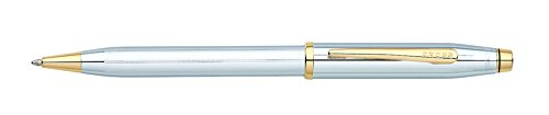 Cross Century II, Medalist, Ballpoint Pen,  with Polished Chrome and 23 Karat Gold Plated Appointments (3302WG) (Cross Century Ii Ballpoint compare prices)