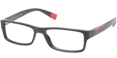Prada Sport (Linea Rossa) Ps03Cv Eyeglasses-1Ab/1O1 Black-52Mm
