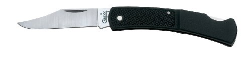 Case Cutlery 147 Case Lightweight Caliber Lockback Pocket Knife With Stainless Steel Blade, Black Synthetic
