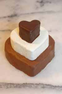 Valentine Fudge Heart Trio