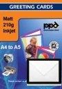 A4 Inkjet (Jet d'encre) Papier pour carte de remerciement (MATT) x 50 Feuilles. Avec packet d'enveloppes