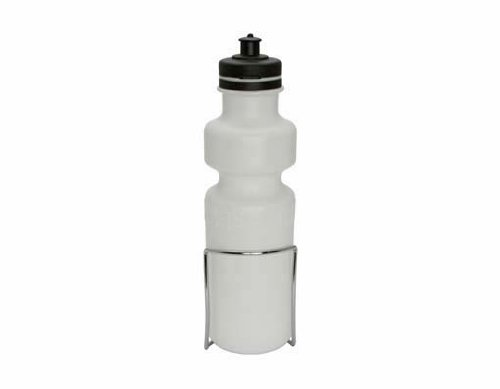 Water Bottle With Alloy Cage 28Oz White front-1002010
