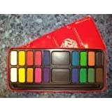 Major Brushes - 18 Farbblöcke Künstler Wasserfarben Malset In Metalldose