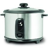 Daewoo DEAW-DRC444 1.8-Liter Stainless Steel Rice Cooker, 220-volt, Silver by Daewoo
