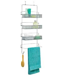 Space Saving High Quality Chrome 3 Tier Over Door