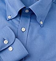 Pure Cotton Quick Iron Plain Oxford Shirt