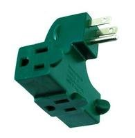 Right Angle Wall Tap 3 Outlet Splitter UL Listed Behind Furniture