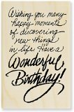 "Stampendous Mounted Rubber Stamp 2-1/2""X3-1/2""-Birthday Wish - 1"