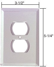 CRL Clear Duplex Plug Glass Mirror Plate by CR Laurence