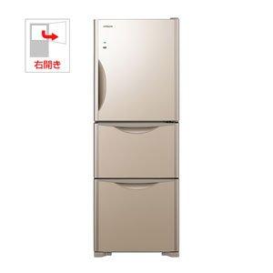 日立 265L 3ドア冷蔵庫(クリスタルシャンパン)HITACHI 真空チルド R-S2700FV-XN