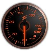 STRI DSD Series 60mm Black Dial Amber LED Oil Temperature Gauge