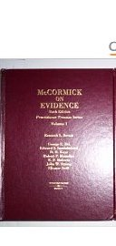 McCormick on Evidence (Practitioner Treatise Series)