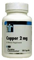 Copper 2 mg 100 Capsules by Douglas Labs