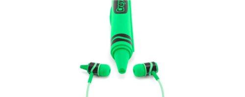 Griffin Crayola Myphones Kids Earphones - Caribbean Green