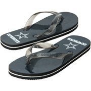 Dallas Cowboys Glitter Thong Flip Flops at Amazon.com