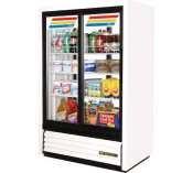 White True GDM-33CPT Slide Door Narrow Depth Convenience Store Glass Door Merchandiser Refrigerator