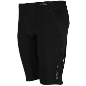 SKINS A400 Compression Half Tight - Men's ( sz. M, Black/Charcoal )
