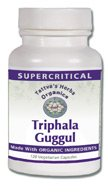 Triphala Guggul - Supercritical Extract Certified Organic 500 Mg. - 60 Vcaps (Pack of 2)