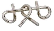 Disentanglement Puzzle ~ Physical Brain Teaser ~ Steel Metal ~ 'Twister' ~ Difficulty Level 1 Beginner - 1