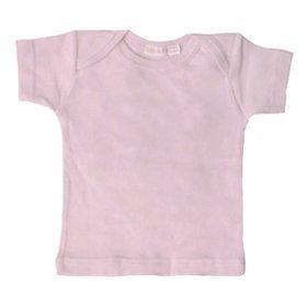 Under The Nile Organic Short Sleeve Lap Shoulder Tee, Blush, 6-9 Months front-605874