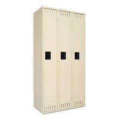 Single Tier Locker, Three Units36w x 18d x 72h, Sand