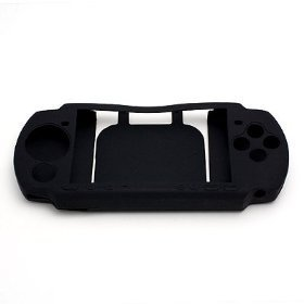 BLACK Soft Rubber Jelly Silicone Skin Cover Case for Sony Play Station Portable PSP 3000