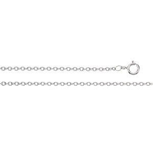Platinum 1.5 mm Solid Cable Chain: 16 Inch