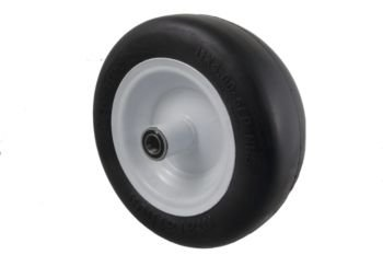 Marathon Industries 01410P 11x4.0-5-Inch Flat Free Lawn Mower Tire - 5-Inch centered hub - 3/4-Inch Precision ball bearing