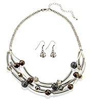 Sparkle Bead Necklace & Earrings Set