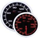Depo Racing Super White/Amber Oil Pressure Gauge