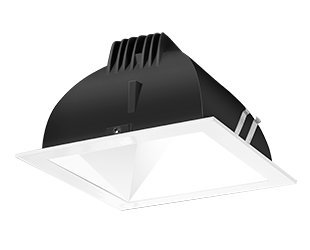Rab Lighting Ndled4S-Wyn-W-W Led Trim Mod- 4 Square 35K Wall Wash White Ring With White Cone