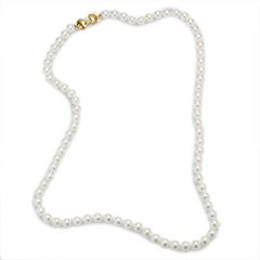 "22"" Cultured Akoya Pearl Strand with 14K Gold Clasp Blue Lagoon by Mikimoto 6.5-7.0mm strands"