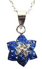 Silver crystal Pendant by GlitZ JewelZ © - bling bling!! - silver pendant with 16' silver chain - made with over 50 swarovski crystals - comes packed inside a lovely velvet pouch