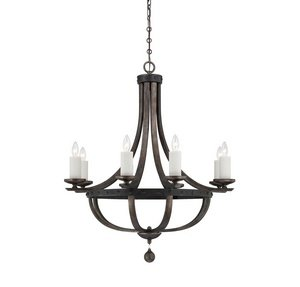Savoy House 1-9531-8-196 Alsace - Eight Light Chandelier, Reclaimed Wood Finish (Savoy House Alsace compare prices)