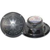 Pyle Plmr61B 120-Watt 6.5-Inch 2-Way Marine Speakers (Black)