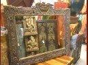 int. d'ailleurs - big miror indian carved - MIR014
