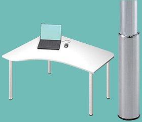 Garage パソコンデスク D2-E-SJ 白  幅1200×奥行1000(607)×高さ645-975mm