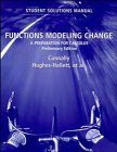 img - for Functions Modeling Change, Student Solutions Manual: A Preparation for Calculus, Preliminary Edition book / textbook / text book