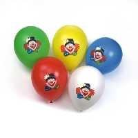 10x Latexballon Clown 30cm Durchmesser bunt gemischt