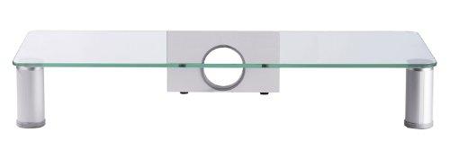 ONUX-Monitoraufsatz-Aufsatz-Erhhung-Alu-Glas-Monitor-Schreibtisch