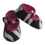 Mary Jane Baby Booties Size: 0-6 Months, Color: Zoe Zebra