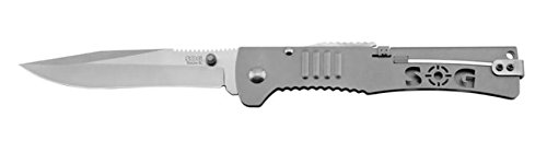 New SOG Slim Jim Slim Jim XL 420 Stainless Steel Folding Knife + Includes a Free Zombie Hunter Survival Knife