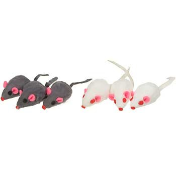PETCO Furry Mice Cat Toys
