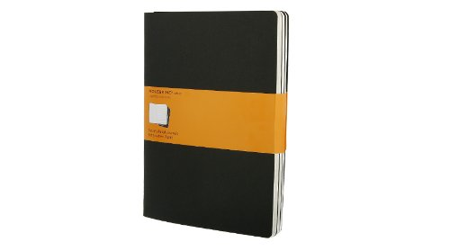 Moleskine Ruled Cahier Journal Black XLarge: