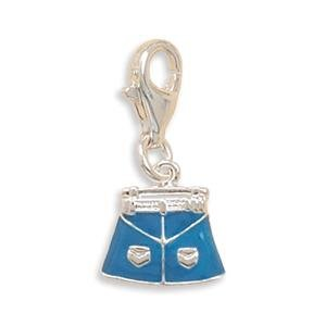 Jean Skirt Charm with Lobster Clasp Sterling Silver