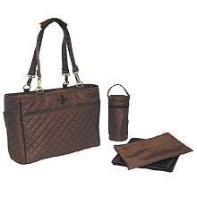 Kalencom Quilted Tote in Chocolate, 2963CHOC-CHOC