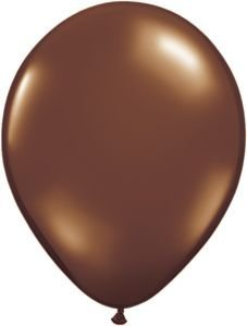 "Single Source Party Supplies - Round 16"" Fashion Chocolate Brown Latex Balloons Bag of 5"