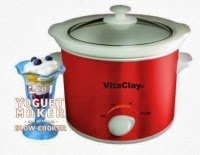 Vita Clay Red 2 In 1 Yogurt Maker And Slow Cooker front-477220