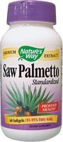 Natures Way Saw Palmetto Standardized Extract - 60 Softgels, 2 Pack