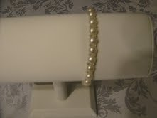 Natural Freshwater Flat Coin White Pearl Sterling Silver 1 Row Bracelet